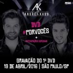 André & Kadu irão gravar primeiro DVD em São Paulo
