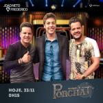 João Neto & Frederico são os entrevistados no Programa do Porchat desta quarta-feira (23)