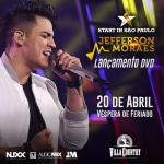 """Jefferson Moraes anuncia lançamento do DVD """"Start In São Paulo"""" no Villa Country"""