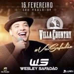 Wesley Safadão retorna ao Villa Country com novidades no repertorio