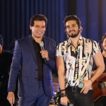 Luan Santana faz show exclusivo para o Domingo Legal