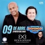 Rick & Giovani lançam seu novo trabalho no Domingo Show deste domingo (9)