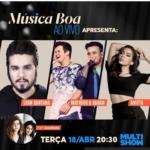 Luan Santana e Matheus & Kauan no Música Boa Ao Vivo desta terça-feira (18)