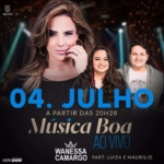 Wanessa Camargo e Luiza & Maurílio no Música Boa Ao Vivo desta terça-feira (04)