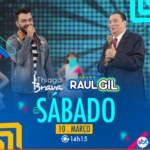 Thiago Brava no Programa Raul Gil deste sábado (10)