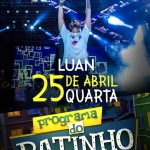 """Luan Santana agita o """"Boteco do Ratinho"""" desta quarta-feira (25)"""