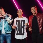 """Wesley Safadão grava clipe de """"Amor Falso"""" com MC Kevinho e Aldair Playboy"""