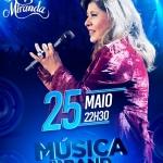 Roberta Miranda no Música na Band desta sexta-feira (25)