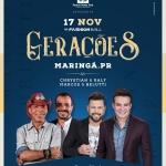 """Chrystian & Ralf e Marcos & Belutti agitam Maringá e Londrina com o """"Gerações"""""""