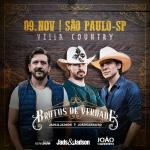 """Jads & Jadson e João Carreiro chegam ao Villa Country com o show """"Brutos de Verdade"""""""