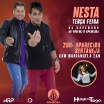 Hugo & Tiago, Valéria Barros e Adriana Sanchez no Aparecida Sertaneja desta terça-feira (06)