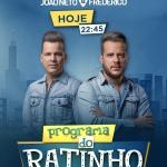 """João Neto & Frederico agitam o """"Boteco do Ratinho"""" desta quarta-feira (21)"""
