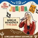 Marília Mendonça abre primeira noite de Arraiá do Villa Country