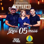 Alex & Yvan e Júnior & Cézar no Aparecida Sertaneja desta terça-feira (05)